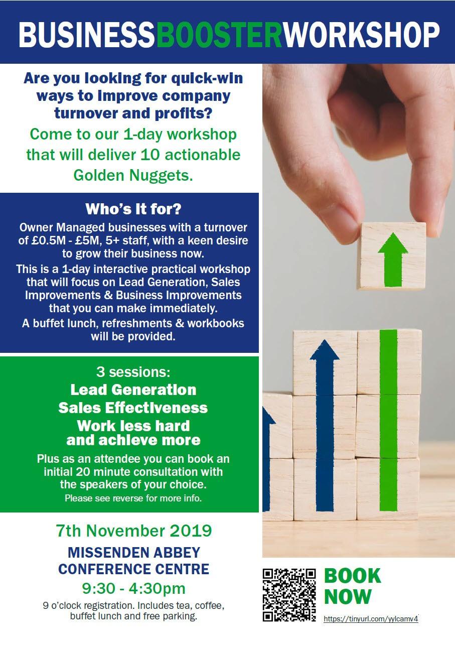 Business Booster Workshop Missenden Abbey 7th November 2019 -Pt1