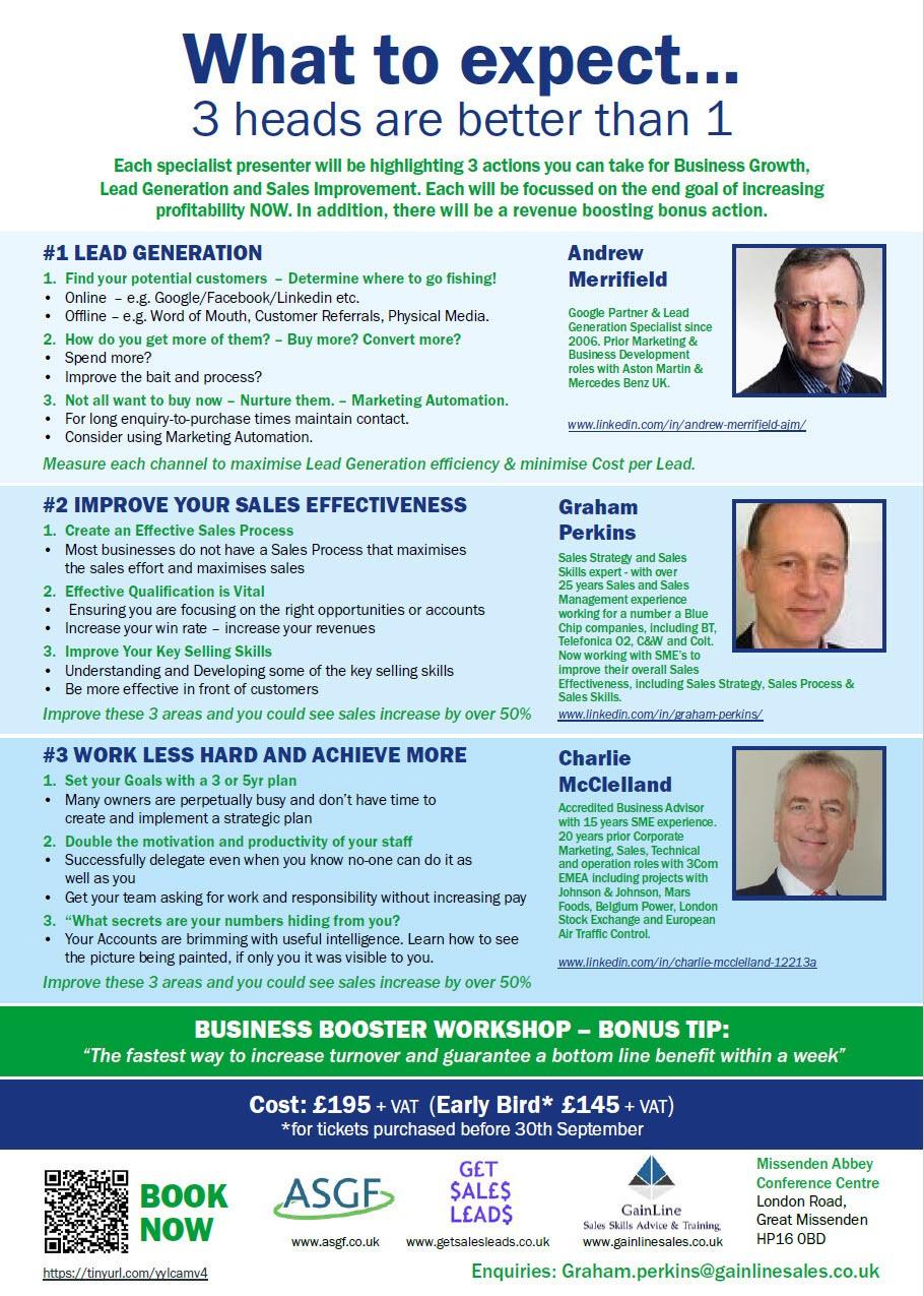 Business Booster Workshop Missenden Abbey 071119 Pt2